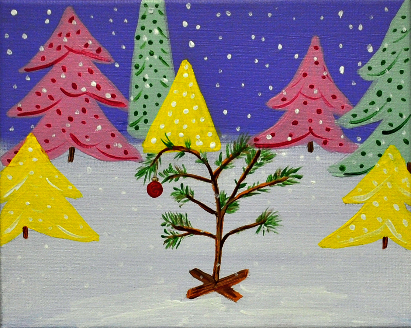 Christmas Paintings For Kids.Kids Painting Party Just Needs A Little Love Dec 5 2015