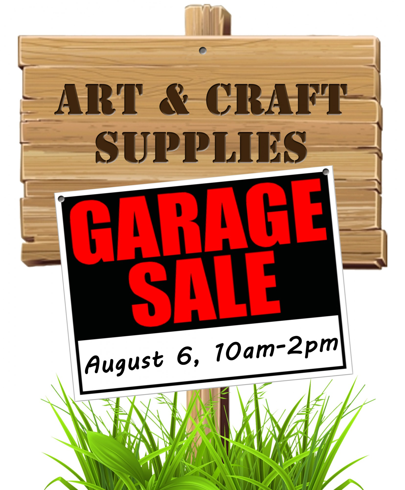 Art craft supplies garage sale aug 6 2016 muncie for Clearance craft supplies sale
