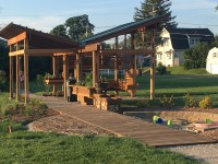 Maring-Hunt Library Community Garden Gateway to Growing Pavilion and Nature Play Pockets, Faculty: Pam Harwood, Muncie Makes Lab