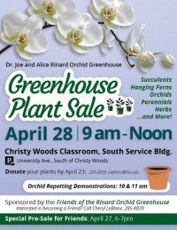 Greenhouse Plant Sale Fundraiser
