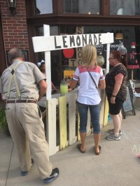 Lemonade Stand and Kid's Chalk Art Walk at Forever Young
