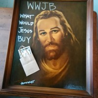 """WWJB (What Would Jesus Buy),"" GindhART, Madjax 2nd floor"