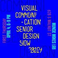 Vis Comm Senior Show at Muncie Makes Lab