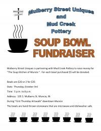 Soup Bowl Fundraiser at Mulberry Street Uniques