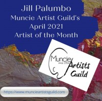 Jill Palumbo, Muncie Artist's Guild's featured artist for April, showing at various locations