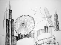 Sketchbooks – Seeing Through Drawing, on display at Muncie Makes Lab