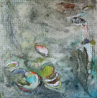 Radicle Traces, paintings by Kaylee Dalton on display at Gordy Fine Art & Framing Co.